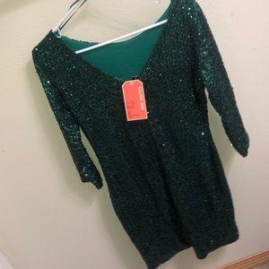 Gianni Bini Dresses - Gianni Bini FAN FAVES Green Sequin Dress